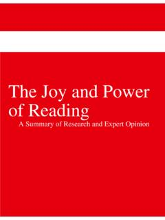 The Joy and Power of Reading - Scholastic