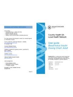 Country Health SA Local Health Network User guide Basal ...
