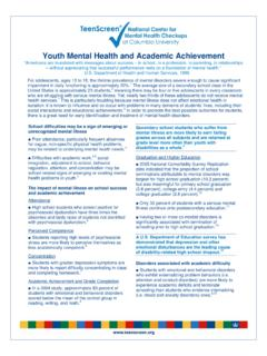 Mental Health and Academic Achievement in Youth