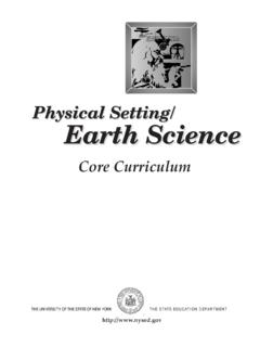 Physical Setting/ Earth Science - nysed.gov