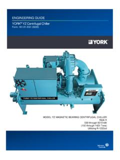 ENGINEERING GUIDE YORK YZ Centrifugal Chiller