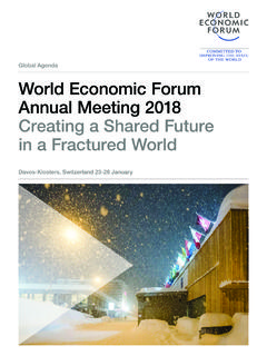 Global Agenda World Economic Forum Annual …