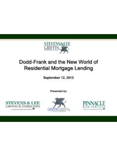 Dodd-Frank and the New World of Residential …