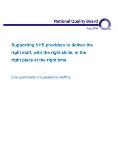 Supporting NHS providers to deliver the right staff, with ...