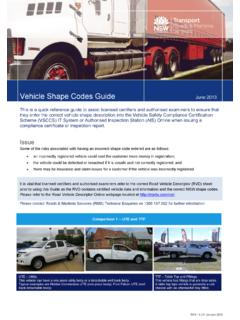Vehicle Shape Codes Guide - Roads and Maritime Services