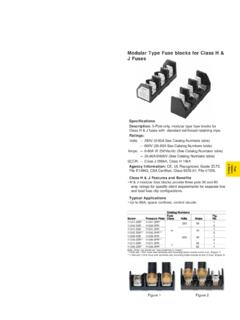 BH Series Modular Type Fuse blocks for Class H & Modular ...