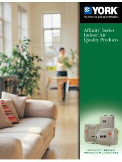 Affinity Series Indoor Air Quality Products - UPGNET