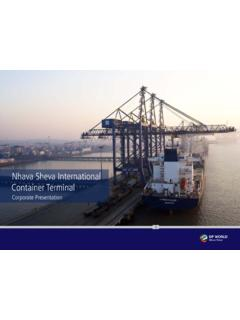 Nhava Sheva International Container Terminal - DP World …