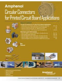 Amphenol Circular Connectors for Printed Circuit Board ...