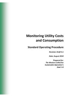 Monitoring Utility Costs and Consumption