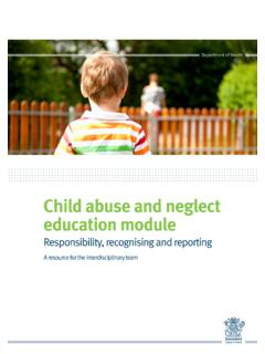 Child abuse and neglect education module - Queensland …