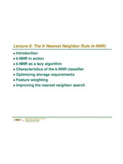 Lecture 8: The K Nearest Neighbor Rule (k-NNR)