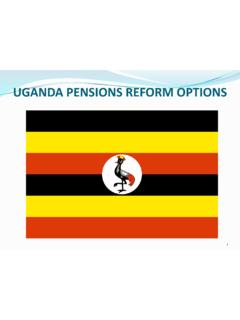 UGANDA PENSIONS REFORM OPTIONS - World Bank