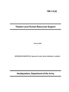 FMI 1-0.02 Theater-Level Human Resources Support