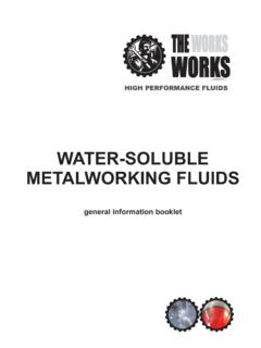 WATER-SOLUBLE METALWORKING FLUIDS - The …