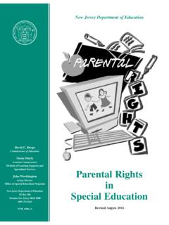 ParentalRights of in of SpecialEducation