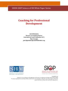 Coaching for Professional Development - Welcome …