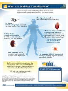What Are Diabetes Complications? - NDEI