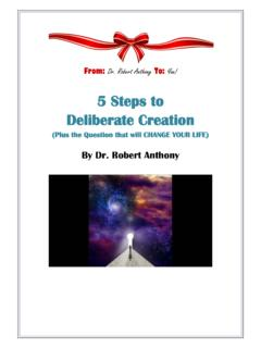 Five Steps to Deliberate Creation - The Secret of ...