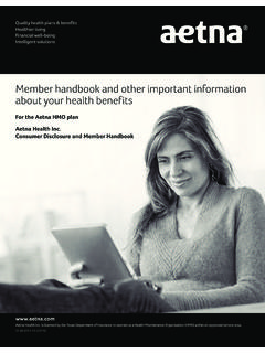 Member handbook and other important information about …