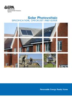 Solar Photovoltaic: SPECIFICATION, CHECKLIST AND GUIDE