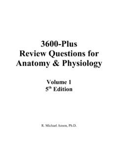 3600+ Review Questions for Anatomy & Physiology …