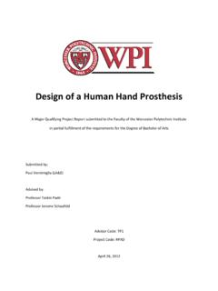Design of a Human Hand Prosthesis