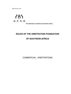 RULES OF THE ARBITRATION FOUNDATION OF …