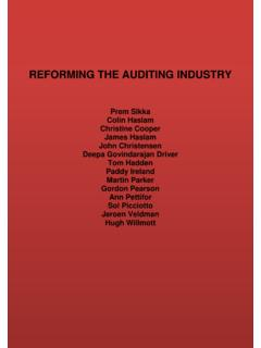 REFORMING THE AUDITING INDUSTRY - visar.csustan.edu