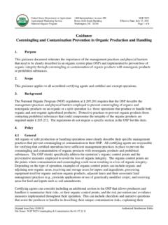 Guidance Commingling and Contamination Prevention in ...