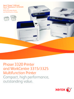 Xerox Phaser 3320 and WorkCentre 3315/3325 MFPs