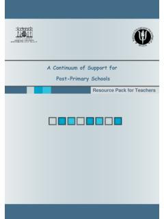 A Continuum of Support for Post-Primary Schools