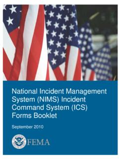 National Incident Management System (NIMS) Incident ...