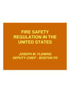 FIRE SAFETY REGULATION IN THE UNITED STATES - …