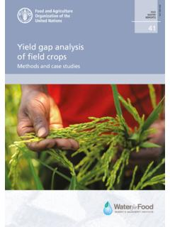 Yield gap analysis of field crops - Home | Food and ...