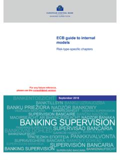 ECB guide to internal models - Risk-type-specific chapters