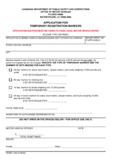 APPLICATION FOR TEMPORARY ... - Auto Title Express