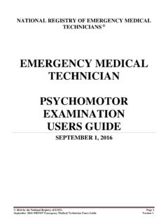 EMERGENCY MEDICAL TECHNICIAN …