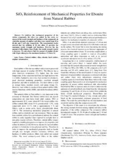 SiO Reinforcement of Mechanical Properties for Ebonite ...