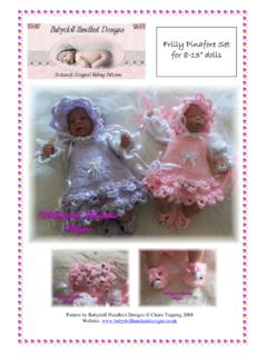 "Frilly Pinafore Set for 8-13"" dolls - Claire's Baby ..."