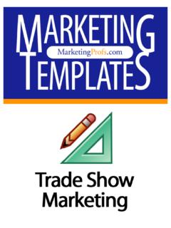 Trade shows are a valuable resource for your marketing ...