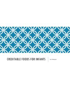CREDITABLE FOODS FOR INFANTS - National CACFP …