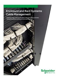 Enclosure and Rack Systems Cable Management - apc.com