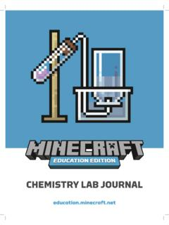 CHEMISTRY LAB JOURNAL - Minecraft: Education Edition