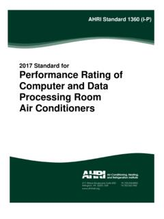 2017 Standard for Performance Rating of Computer and …