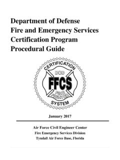 Department of Defense Fire and Emergency …