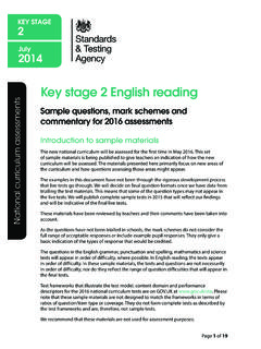 Key stage 2 English reading - SATs papers