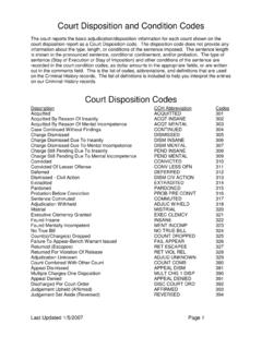 Court Disposition and Condition Codes - Pages