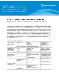 BLUE ECONOMY DEVELOPMENT FRAMEWORK