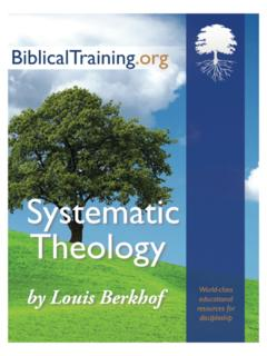 Systematic Theology, by Louis Berkhof